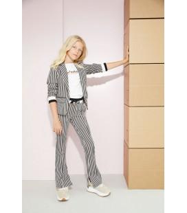 NoBell Sahara flared pants in Japanese stripe on punta