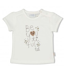 Feetje T-shirt - Panther Cutie - Offwhite
