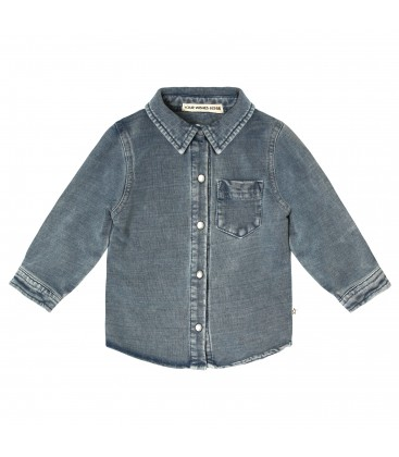 Your Whishes Knitted Denim   Shirt