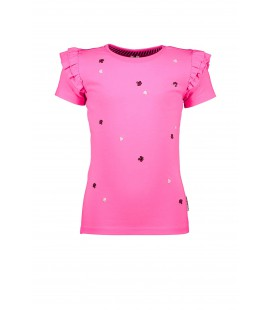 B.Nosy t-shirt with sequincse flowers on body