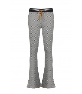 NoBell Sahara flared pants in AOP Chess on sweat
