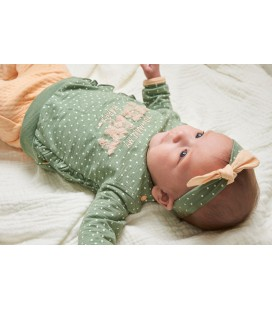 Feetje Sweater AOP - Hearts - Groen