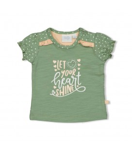 Feetje T-shirt Shine - Hearts - Groen