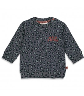 Feetje Sweater AOP - Wild Thing - Antraciet