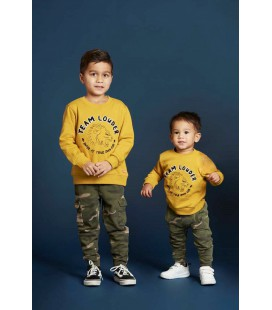 Sturdy Sweater Louder - Press And Play - Geel