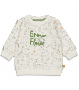 Sweater AOP - Welcome to Earth - Offwhite