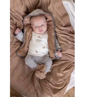 Feetje Omkeerbaar jasje met capuchon - Little Croissant - Grijs melange